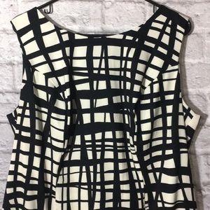 Alyx Black & Off White Print Sheath Dress
